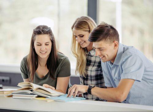 alunos estudando